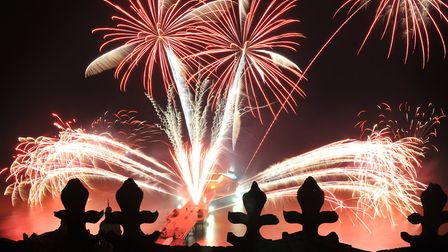 Cromer New Year fireworks. Picture: SIMON FINLAY