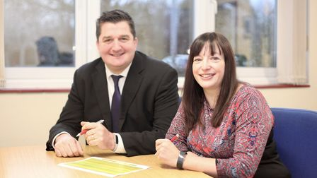 Stephen Plume and Emma Owner, the two new principals at Iceni Academy. Picture: Iceni Academy