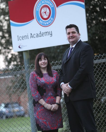 Emma Owner and Stephen Plume, the new principals at Iceni Academy. Picture: Iceni Academy