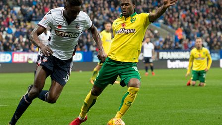 Cameron Jerome's last Norwich City start came in a 2-1 defeat at Bolton at the start of November. Pi