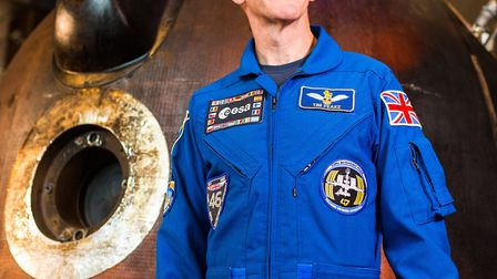 Tim Peake with the Soyuz TMA-19M. Picture: SCIENCE MUSEUM GROUP