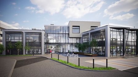 The proposed design for Cefas' new £16m Lowestoft base. Image courtesy of Cefas.