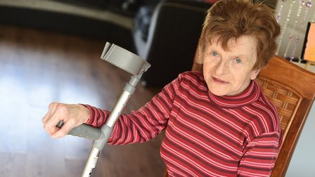 Ann Banyard was left with a broken arm and leg injuries after a shoplifter trying to steal a bottle