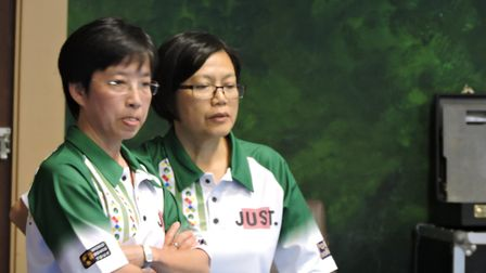 Hong Kong's Lychee and Queenie Lai, who pushed Aussies Scott Walker and Trentan Healey all the way i