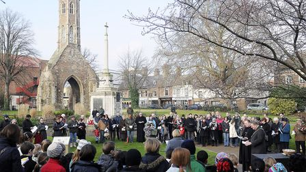 A Holocaust Memorial Service at Tower Gardens in King's Lynn. Picture Matthew Usher.