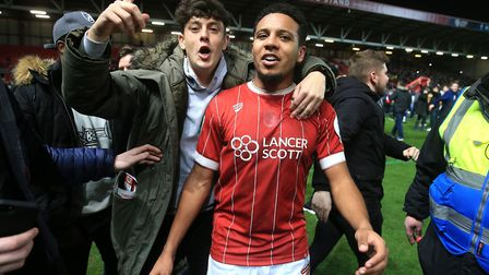 Korey Smith's late League Cup winner sunk Manchester United to spark jubilant scenes. Picture: Nick