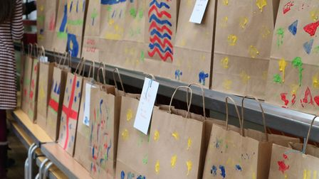 The giving church service encouraged worshippers tbring gift bags for St Martin's Housing Trust. Pic