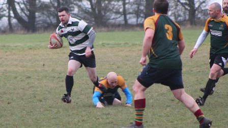 Norwich Union Firebirds' man-of-the-match Oli Ward in action during his side's 19-0 win over Norwich