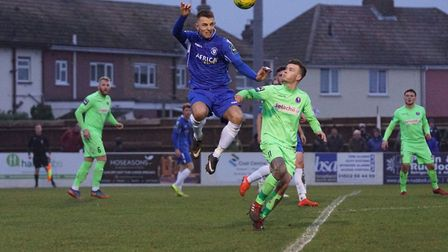 Jake Reed missed a penalty as Lowestoft were held at home by Dorking. Picture: Shirley D Whitlow
