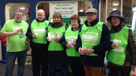 King's Lynn Samaritans have been offering free tea bags to rail passengers as part of the Brew Monda