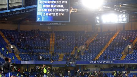 The FA Cup third round replay between Chelsea and City had to be delayed by 15 minutes due to severe