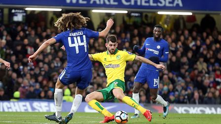Nelson Oliveira looked the man most likely for City to break the deadlock in the first half. Picture