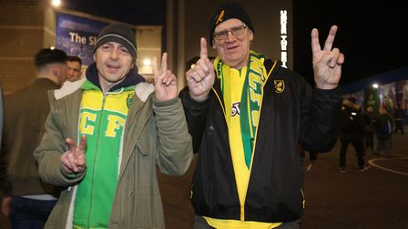 Some of the travelling City faithful were feeling confident ahead of their FA Cup clash. Picture: Pa