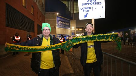 Some City fans get into the party spirit at Stamford Bridge before their side's FA Cup third round r