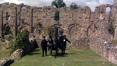 Filming the Tomb of Ligeia. Pictures: Supplied by Hallowed Histories