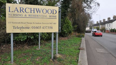 Larchwood Nursing and Residential Home, Yarmouth Road, Thorpe St Andrew. Photo: Steve Adams