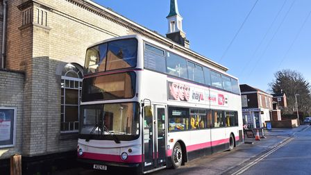 Residents on Armes Street in Norwich are angry about a bus being parked outside the Alive Church. Pi