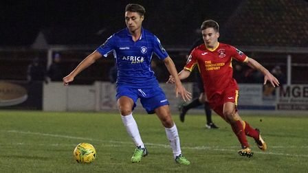 Sam Borrer has left Lowestoft Town to sign for Dereham Town. Picture: Shirley D Whitlow
