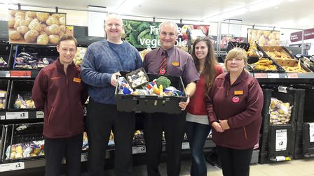 Sainsbury's Pound Lane's food donation partner ENYP at their store with colleagues. Photo: Sainsbury