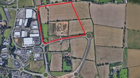 A rough map showing where the new houses could be built. Photo: Google.