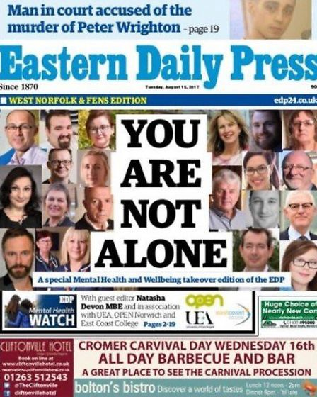 The EDP's mental health takeover edition. Photo: Archant