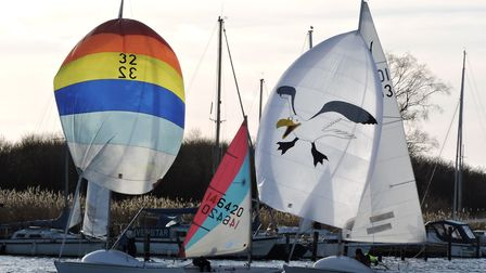 Action from Snowflake Sailing Club. Picture: Paddy Wildman