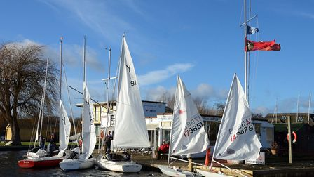 Action from Snowflake Sailing Club's Boxing Day Open Regatta. Picture: Neil Foster