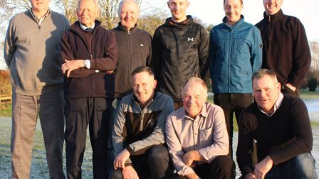 Mick Lathrope (front centre) alongside Eaton's new head green-keeper Rob Ransome (front left) with L