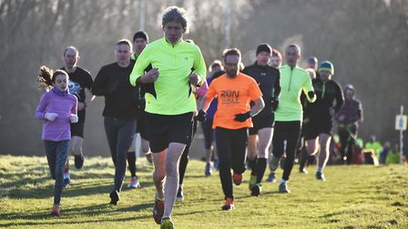 Colney Lane Parkrun. If you look closely you'll see David Powles in a black hat in the background st