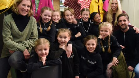 One of the groups of Panto Babes in this year's Sleeping Beauty panto at the Theatre Royal, with cho