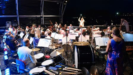 The Great British Prom at Blickling Hall. National Symphony Orchestra conducted by Anthony Inglis a