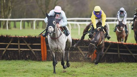 Maxime Tissier leads Artifice Sivola to success in the third. Picture: Ian Burt