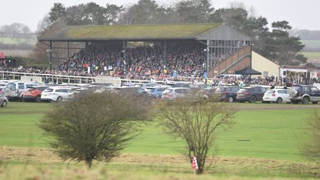 A large crowd was at Fakenham to watch the racing on New Year's Day. Picture: Ian Burt