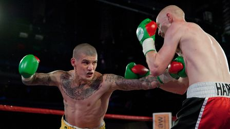 Nathan Dale on his way to victory over Nathan Hardy in July. Picture: Jerry Daws/Stillfocusedmedia