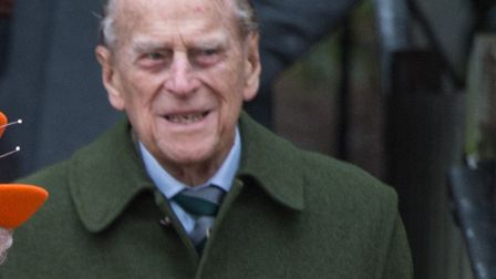 Prince Philip pictured when they left the Christmas morning service at Sandringham Church this year.