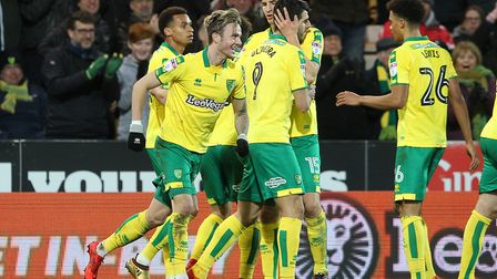 James Maddison enjoys the moment after scoring his seventh goal of a productive campaign to seal a n