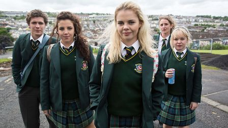 Derry Girls - James Maguire (Dylan Llewellyn), Michelle Mallon (Jamie-Lee O'Donnell), Erin Quinn (S
