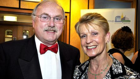 Peter Stebbings and his wife Mary. Pic: Archant Library.