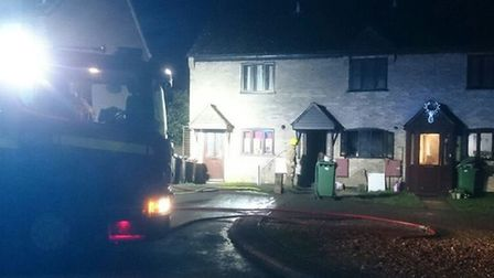 A house fire in Diss. Picture: South Norfolk Police