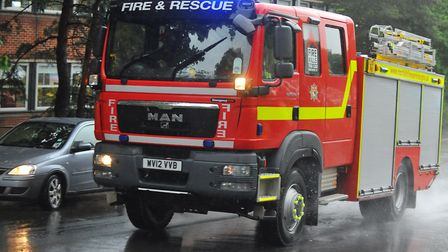 Fire crews tackled a building blaze in Shipdham. Picture: Archant Library.