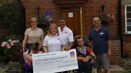 Stoke Ferry couple Linda and John Green raised £3,600 for four charities in their daughter Debbie's