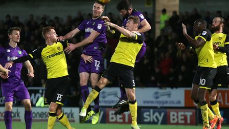 Marley Watkins and Grant Hanley rise highest in hope of giving Norwich City something to celebrate a