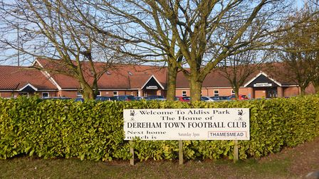 Dereham Town's weekend game against Canvey Island was postponed because of a waterlogged pitch at Al