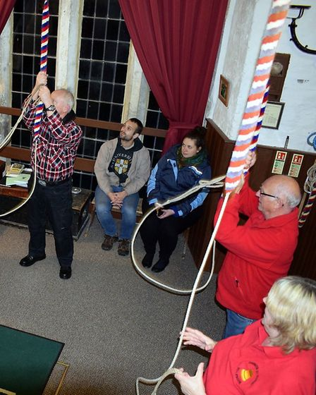 For the first time since the 1970's the bells of Terrington-St-Clement church welcomed in the New Ye