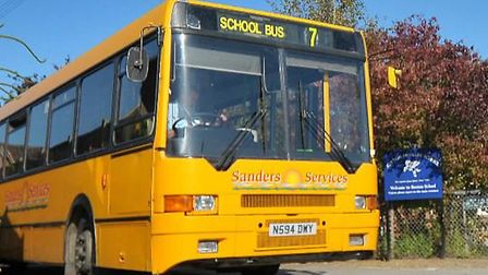 A file picture of a school bus. Picture: Antony Kelly