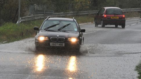 Flooding incidents after heavy rainfall. Picture by SIMON FINLAY.