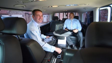 Doug Gordon, left, and Geoff Dunk, directors of G&D Transport Services at Great Ellingham, with thei