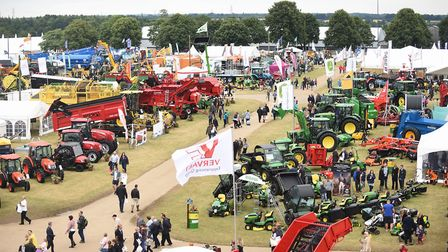 The Royal Norfolk Show seen from the top of the Anglian Demolition scaffolding. Picture: Ian Burt