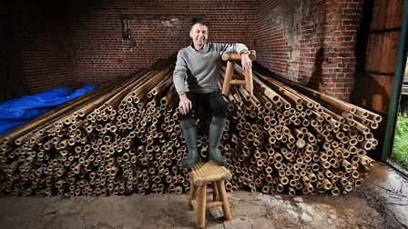 Robert Paul who has launched a business making items out of bamboo. Picture: ANTONY KELLY