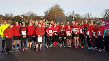Members of the Bungay Black Dog Running Club were out in force for the Wymondham 10k on New Year's D